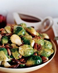Brussels Sprouts with Chestnuts and Bacon • Food & Wine