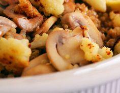 Deliciosa y nutritiva receta de quinoa con verduras y setas. En sólo 30 minutos y para cuatro personas. ¡Boom baby!