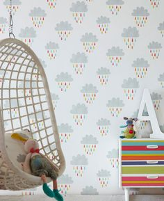 Before a Rainbow | Kids wallpaper | Wallpaper patterns | Wallpaper from the 70s