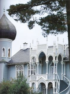 "Known as the ""Little Alhambra,"" Norwegian violinist Ole Bull's late 19th century summer house is the ultimate in skilled woodcraft."