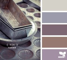 more tin tones..we just started painting our living room a very light shade that would fit this swatch. We need to think about a darker accent wall color.