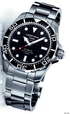 """The best new Certina watches for 2011 were the """"Action Divers."""" The name of the collection sounds as youthful as Certina wants the watches to be. Certina once made very impressive diving watches and are seemingly trying to return that image a bit. While intended to be for the mainstream buyer, these DS Action Divers are a nice watch and a good value that are also diving capable. They come in a few styles and colors, and on metal bracelets or straps.  In the $800 - $1000 range."""