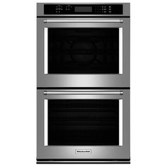 KitchenAid Self-Cleaning Double Electric Wall Oven (Stainless Steel) (Common: 30 Inch; Actual: at Lowe's. Designed to impress in both style and function, this KitchenAid double electric wall oven will be the centerpiece of your kitchen upgrade. Each oven