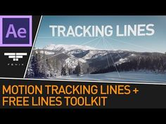After Effects Motion Tracked Lines Effect + Free Lines Toolkit