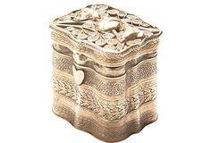 pretty silver trinket box