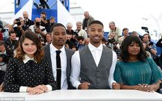 Star studded: Later in the day actress Melonie Diaz, director Ryan Coogler, actor Michael B. Jordan and actress Octavia Spencer attended the Fruitvale Station Photocall during the 66th Annual Cannes Film Festival