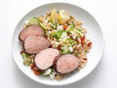 Greek Pork Tenderloin with Israeli Couscous Recipe : Food Network Kitchen : Food Network - FoodNetwork.com
