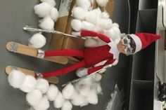 DIY Elf on a Shelf Ski Break
