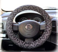 Steering wheel cover for wheel car accessories Zigzag, Chevron print