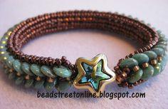 2 Hole Bead Patterns Free | Lentille Bracelet Class at Bead Street