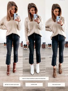 How to Wear Ankle Boots & Booties - Everything You Need to Know Talking about how to wear ankle boots and giving you oodles of outfit inspiration from wearing ankle booties with leggings to cuffed jeans and more! Brown Ankle Boots Outfit, Ankle Boots With Leggings, How To Wear Ankle Boots, Booties Outfit, Pointy Boots, How To Wear Scarves, Everyday Fashion, Winter Outfits, Winter Clothes