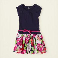 girl - dresses & rompers - flutter n' floral bubble dress | Children's Clothing | Kids Clothes | The Children's Place