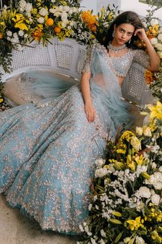 Shop Anushree Reddy Embroidered Lehenga Set , Exclusive Indian Designer Latest Collections Available at Aza Fashions Indian Bridal Outfits, Indian Bridal Fashion, Indian Designer Outfits, Wedding Dress Styles, Bridal Dresses, Lehenga Choli Wedding, Designer Bridal Lehenga, Indian Gowns, Indian Lengha