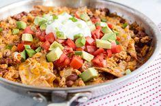 Recipe: Easy Cheesy Burrito Skillet