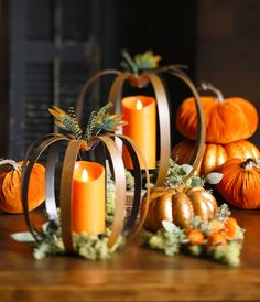Pumpkin Candleholder from the Fall Collection. By RAZ Imports. Shop RAZ at Trendy Tree! http://www.trendytree.com