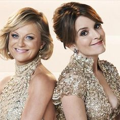 Amy Poehler and Tina Fey; first promotional picture for the 2013 Golden Globes