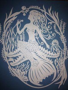 Emily wilson papercut mermaid
