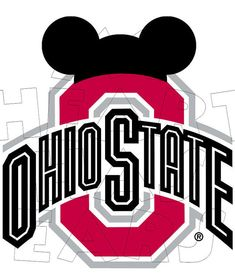 osu ohio state buckeyes football with minnie mouse instant download rh pinterest com ou clipart osu cowboys clipart
