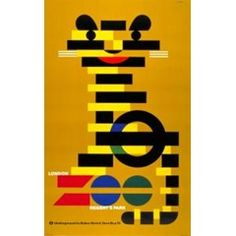 London Zoo poster by Abram Games, 10 pounds at the London Transport Museum. Abram Games, London Transport Museum, Museum Poster, Unusual Presents, The Golden Years, Museum Shop, Vintage London, London Underground, Modern Graphic Design