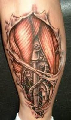 Bio-Mechanical Tattoos And Designs-Mechanical and Robotic Tattoos, Meanings, And Ideas