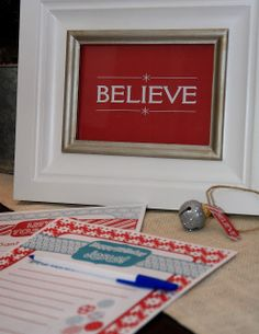 Yellow Bliss Road: Believe Printables, Letters to Jesus and Santa (12 Days of Christmas Printables #4)