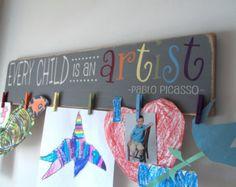 Exhibición de arte para niños exhibición de por FallenTimberCrafts