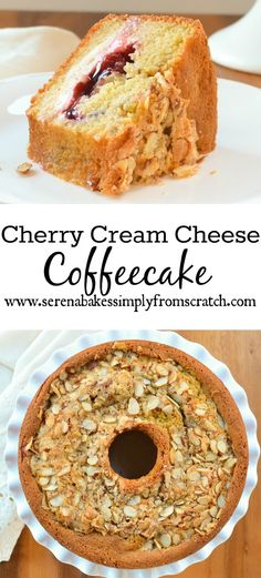 Cherry Cream Cheese Coffeecake is perfect for brunch or dessert and a great addition to the holiday table! Baking Recipes, Cake Recipes, Dessert Recipes, Köstliche Desserts, Delicious Desserts, Cherry Desserts, Cream Cheese Coffee Cake, Coffee Cream, Cream Cheese Recipes