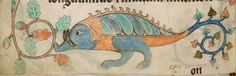 Detail from The Luttrell Psalter, British Library Add MS 42130 (medieval manuscript,1325-1340), f180v