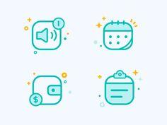Some Icons by carolczq #Design Popular #Dribbble #shots