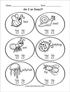 Am I living worksheets for kindergarten. #livingthings #