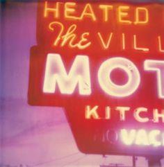 """Stefanie Schneider; Photography, """"Village Motel Sunset"""" #Polaroid"""