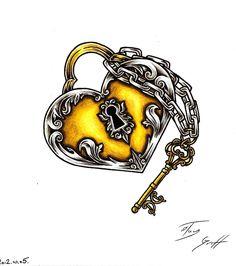 heart lock tattoo - Google Search