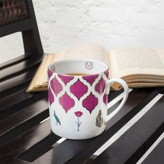 MORE TEA, MORE STORIES Chai, chai & more chai… That's our mantra around here! Discover the iconic Silvermoon mugs on our #WebBoutique #Silvermoon #EverydayLuxury #chaitime #FineBoneChina