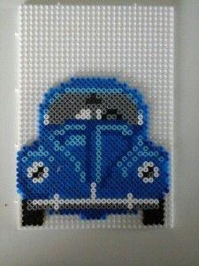 VW beetle hama beads by Pia Thomadsen Hama Beads Design, Diy Perler Beads, Perler Bead Art, Pearler Beads, Fuse Bead Patterns, Perler Patterns, Beading Patterns, O Beads, Fuse Beads