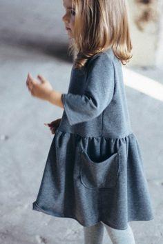 Handmade Girls Fall Winter Dress | TinyBunnyKids on Etsy