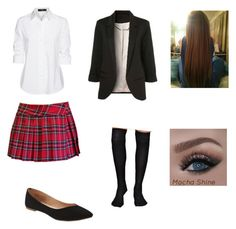 """""""School uniform"""" by rebekah987 ❤ liked on Polyvore featuring Steffen Schraut and Old Navy"""
