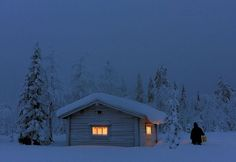 All Things Finnish : Photo by Jorma Luhta. Notice the person walking beside the house. That snow is pretty deep!!!