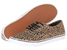 Vans Authentic™ Lo Pro Leopard/ Herringbone Zappos.com [[available in diff. widths!]]