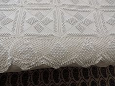 A vintage french hand made crocheted bedspread by Frenchidyll