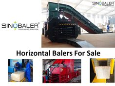SINOBALER has several type of different horizontal balers in product range. From scale weighing baling and bagging machine to fully automatic horizontal baler, you can always find a suitable horizontal baler for your unique baling requirements.