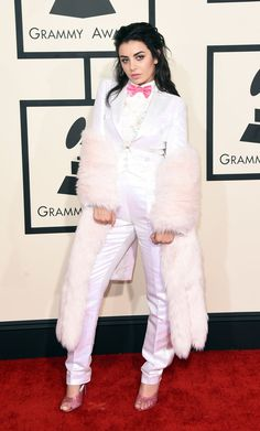 Pin for Later: See All of Music's Brightest Stars on the Grammys Red Carpet! Charli XCX