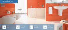 Washpoint    Washpoint ist so variabel, wie Sie es wollen. Durch die Vielfalt der Produktlinie und die auf das Wesentliche reduzierte Formengebung eröffnet Washpoint ganz neue Kombinationsmöglichkeiten. Und weil diese Linie so funktional ist, ist sie so ästhetisch. Oder umgekehrt. Denn ein modernes Bad sollte alles sein: schön, reinigungsfreundlich und praktisch. Ideal Standard, Freundlich, Montage, Bad, Toilet, Bathroom, Line, Cleaning, Washroom