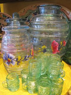 Vintage Glass jars and bar wear.  www.nomadcambridge.com