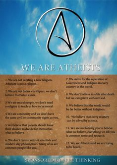 We are atheists