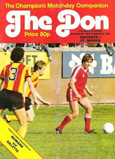 Aberdeen 1 St Mirren 2 in Feb 1981 at Pittodrie. Programme cover #SPL