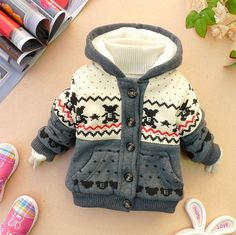 SALE baby boy girl clothes winter coat kid grey by babygirldress, $20.99