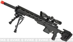 Remington MSR-338 High Power Airsoft Sniper Rifle by ARES - Black / Deluxe (500+ FPS)