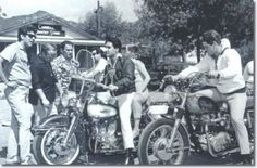 Spinout movie scenes During shooting of Elvis movie Spinout 1966 left to right Larry Geller