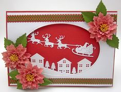 Time to Make the Christmas Cards.  All dies available at http://www.franticstamper.com/cheery-lynn-designs.html