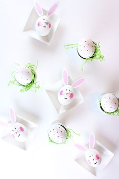 DIY Easter Egg Easter Bunnies | Bunny Ears Free Printable @kimbyers TheCelebrationShoppe.com